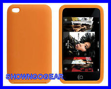 ORANGE iPod Touch iTouch 4 4th Gen Colorful Silicone Rubber Skin Gel Cover Case