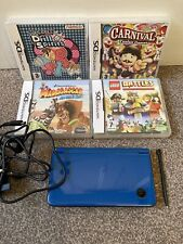 Nintendo DSi XL Blue With Charger, Stylus And Games Bundle