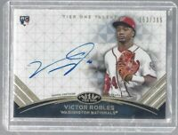 Victor Robles 2018 Topps Tier One On Card Rookie Autograph/295 MLB!!