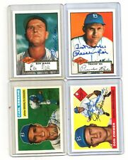 1952-1956 BROOKLYN dodgers ARCHIVES auto SIGNED don ZIMMER card #100/165-1995