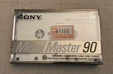 Sony Cassette, Metal Master 90, Blank NOS