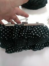 WHITE HOUSE BLACK MARKET POLKA DOTTED SMALL PURSE NWT SUPER CUTE FUN VERSATILE