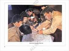 PLANCHE UNIFORM PRINT WWII US Army Rangers Normandy Normandie France 1944