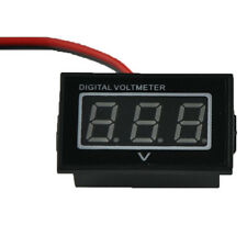 Red Monitor 12 Volt Battery Meter DC Auto Gauge Waterproof Digital Voltmeter
