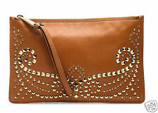 Michael Kors Tasche/Clutch/Bag Rhea Studded Leather Large Zip Luggage  NEU!