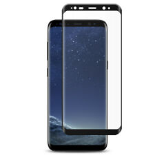 For Samsung Galaxy S8 3D Full Curved Tempered Glass LCD Screen Protector Black