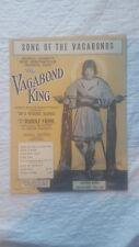 Song of the Vagabonds, Vagabond King, Dennis King, 1925 vintage sheet music