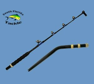 "50-80 lb 5' 6"" Saltwater Trolling Fishing Rod With Bent Butt and Swivel Tip"