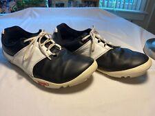 True Linkswear T1 Golf Shoes Black & White Size 11 Spikeless Gently Worn