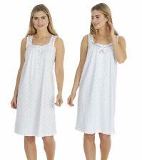 Ladies Womens 100% Cotton Nightdress Nightie Nightwear Sleeveless Floral 10-24