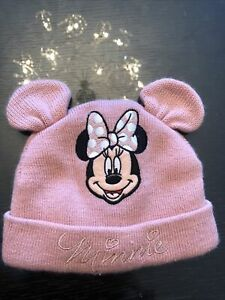 Disney Baby Girl Pink Minnie Mouse Winter Hat Age 6-12 Months