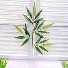 2Pc Green Artificial Bamboo Leaf Vine Plant Garland Fake Foliage Decor Room New