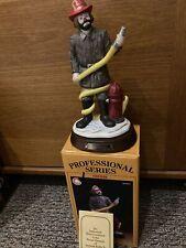 Fireman Emmett Kelly Jr. Prof. Series by Flambro. W/ Box & Base. Complete. Exc