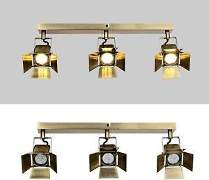 LED 3 Way Ceiling/Wall Spotlights, Bronze Industrial Retro Spot Light 3000K, New