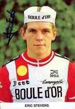 Erik Stevens eric Team BOULE D'OR Signed Autographe cycling Signé WORLD CHAMPION