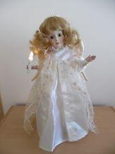 Vintage Christmas Angel Musical Motionette Porcelain~Light Up Candle~1986~Rare