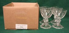 Val St Lambert YALE Port Wine Stems SET OF FOUR Mint in BOX More Items Available