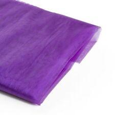 "10 Yards 60"" Wide Organza Fabric Sheer Draping Craft Chair Sash Bow Table Runner"