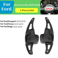 Black Steering Wheel Shift paddle Shifter Extension For Ford Focus Ecosport Kuga