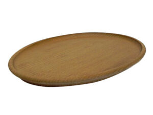 Perfect serving tray - Oak Wood Oval Wooden Solid - 31 cm x 20 cm