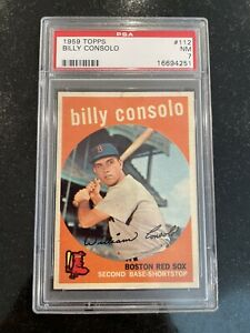 1959 Topps Billy Consolo #112 PSA NM 7