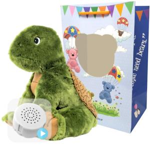 16 inch Green Turtle - Pre-Stuffed Baby Heartbeat Teddy Bear & Voice Recorder