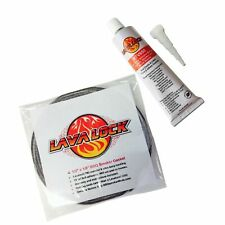 "LavaLock Self Stick Pro Pack: 1/2"" x 1/8"" Grey Nomex Bbq Smoker Gasket w/Rtv ."