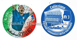 """RARE !! NUTELLA Sticker N3 SALVATORE SCHILLACI """"AZZURRO MONDIALE 2002"""" PANINI"""