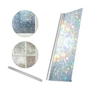 Rainbow Reflective 3D Window Film Decorative Privacy Static Clings Glass Sticker