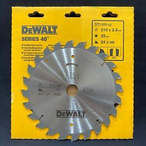 Dewalt DT1101 Series 40 210mm x 25mm 24T TCT Circular Saw Blade for Wood & PVC