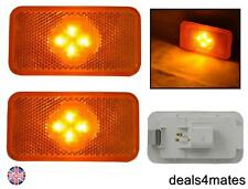 2 PCS 4 LED SIDE MARKER AMBER LIGHTS LAMPS SPECIFIC FIT FOR VOLVO FH-FM-FL