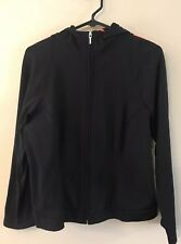 Women's Talbots Black Full Zip long sleeve Jacket Hoodie Sweatshirt Size Medium