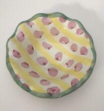 1 Mackenzie Childs Wallcourt Bixley Fluted Berry Dessert Sauce Bowl