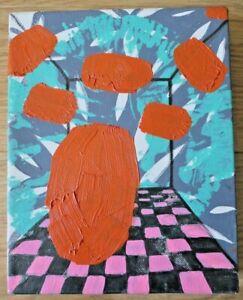 Katerina Botsari (Contemporary) Oil On Canvas. Modernist Flowers