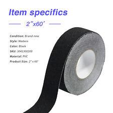 "New listing 2""x60' Non-Skid Tape Black Roll Step Safety Anti Slip Sticker Adhesive"
