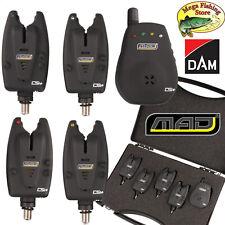DAM Mad CSI+ Funk Bissanzeiger 4+1 Set - Carp Bißanzeiger / Alarm Combo + Koffer