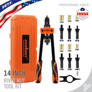 14'' Rivet Gun Kit Rivnut Thread Setting Tool Nut Setter NutSert Metric 70PCS