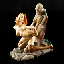 Skeleton Lovers Skulls Statue Erotic Couple Figurine Resin  Sculpture