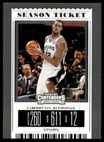 2019-20 Contenders Draft Picks Base Variation #35 LaMarcus Aldridge - Spurs