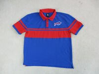 NFL Buffalo Bills Polo Shirt Adult Extra Large Blue Red Football Rugby Mens