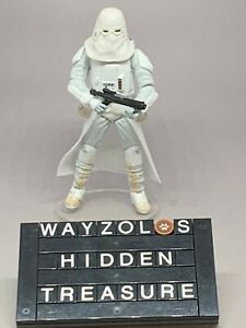 Hasbro 2008 Star Wars TLC Legacy Collection Snowtrooper Loose & Complete + Stand