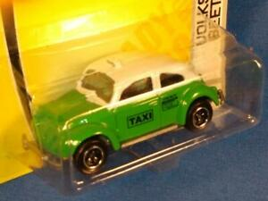 2007 Matchbox City Action, #56 Volkswagen Beetle Taxi,  Green & White, MOC! PM1
