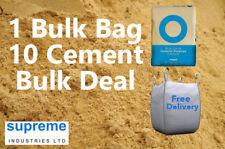 Building Sand Bulk Jumbo Bag & 10 Cement BULK DEAL - FREE DELIVERY NATIONWIDE