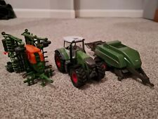 Siku Fendt Tractor and Baler With Amazone Seeder 1/50