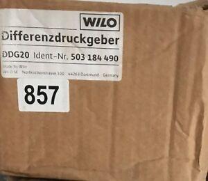 Wilo Pressure Sensor Transducer DDG 20 503184490 Differenzdruck-Geber #857