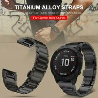 22mm 26mm Quick Fit Titanium Alloy Watch Band Strap For Garmin Fenix 6X 5X Plus