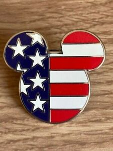 DISNEY EPCOT WORLD SHOWCASE  MICKEY MOUSE HEAD AND EARS UNITED STATES PIN