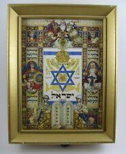Thorens Music Box Wall Decor plays Hatikvah- The Hope Arthur Szyk Vibrant print