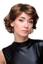 Perruque Femmes Court Glamour Volumineux Style des Années 80 Marron GFW1871