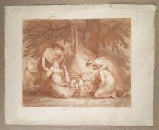 F. BARTOLOZZI c.1800 Stipple Engraving THE MARKET OF LOVE, Women Buying Cupids